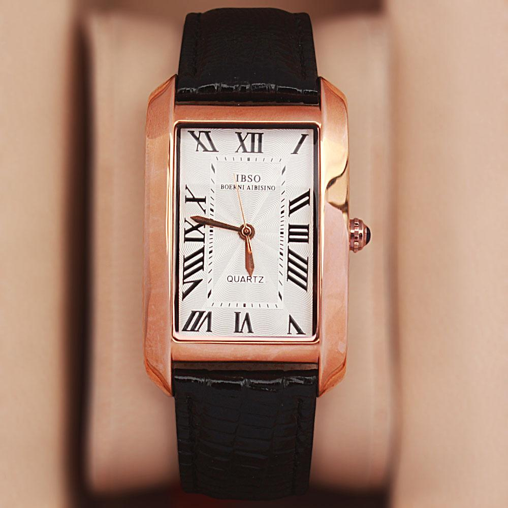 Camil Love Gold Black Leather Classic Ladies Watch