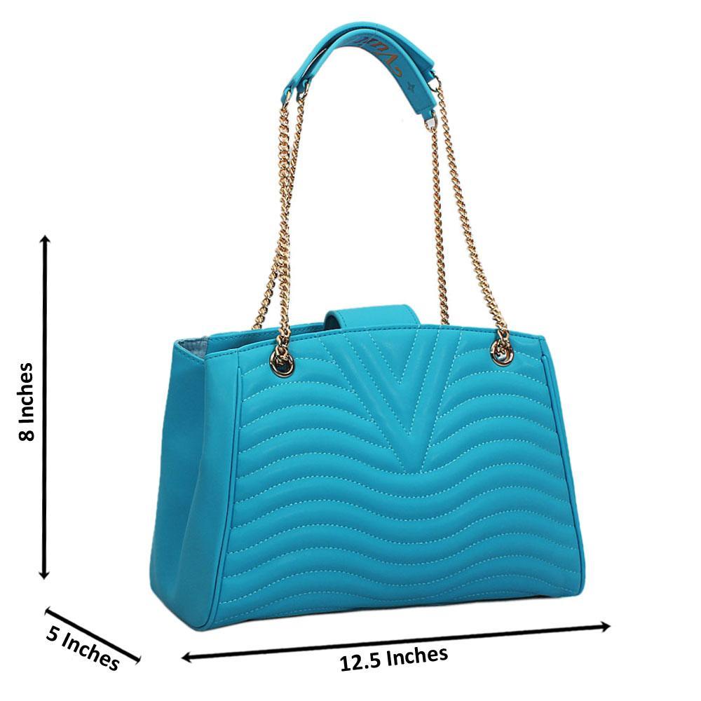 Blue  New Wave Chain Shoulder Handbag