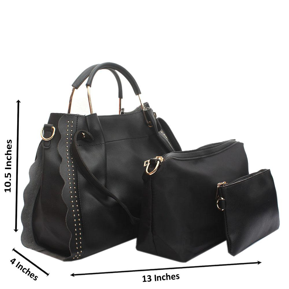 Black Eva Leather Handbag