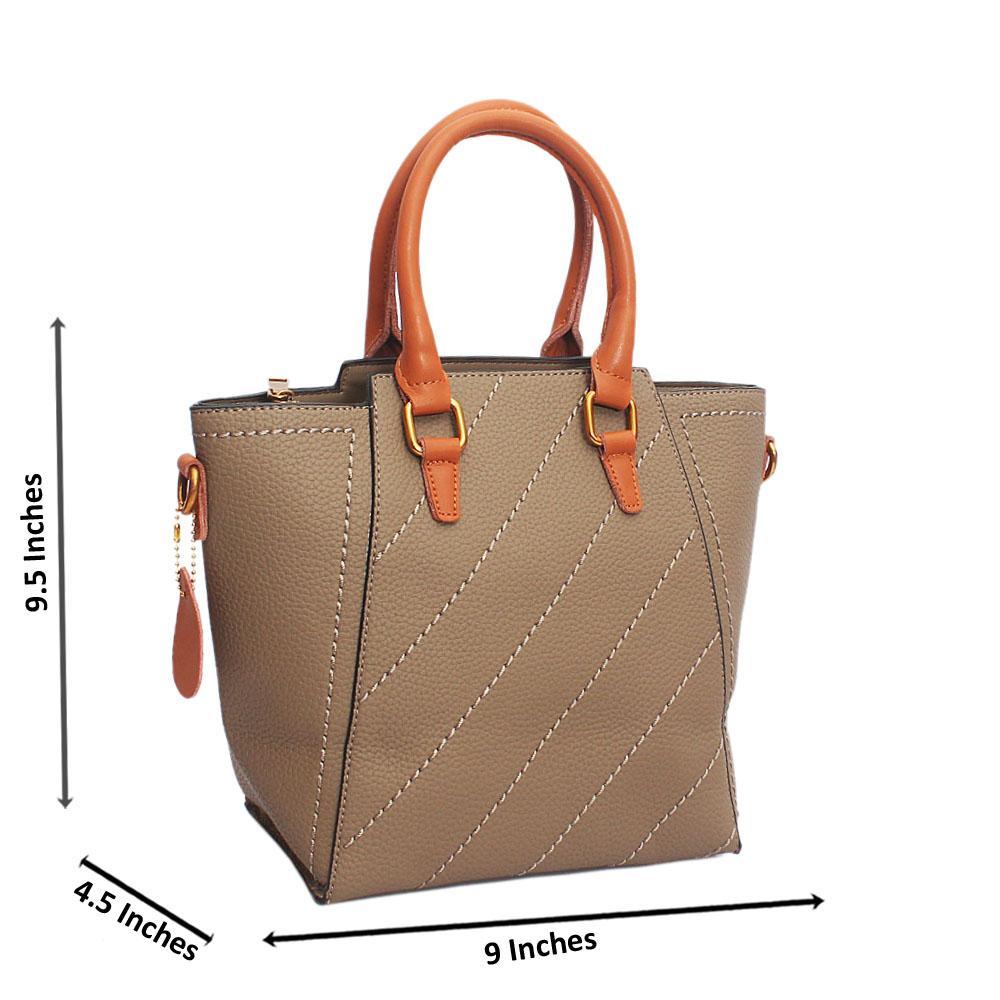 Khaki Thread Pattern Tandy Leather Handbag