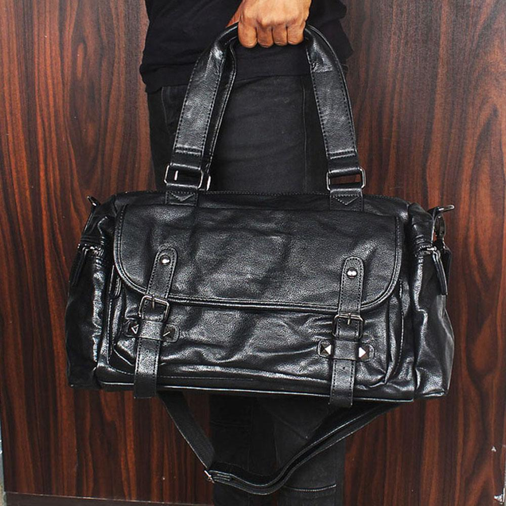 Sol-Black-Stud-Buckle-Cassania-Leather-Man-Bag