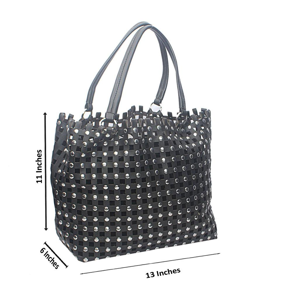 Black Netty Boo Tandy Leather Handbag