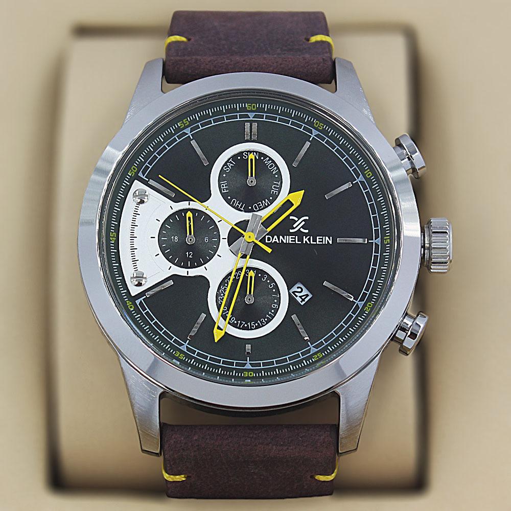 Daniel Klein Andres Tan Leather Pilot Series Watch