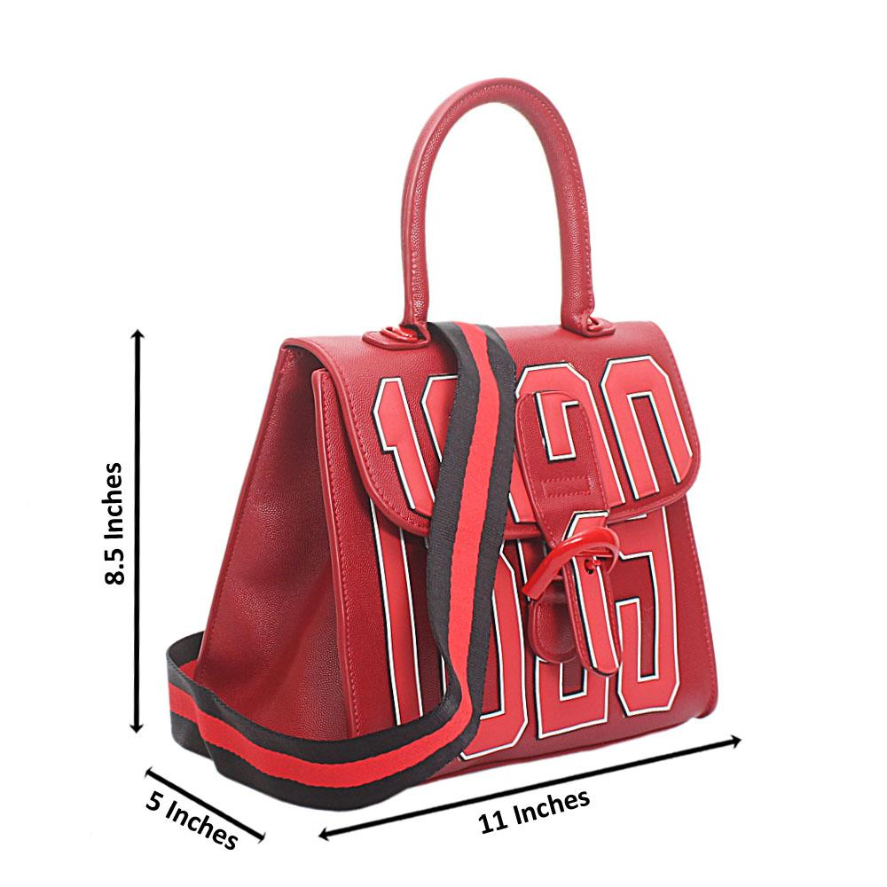 Red Leather Medium 1829 Handbag