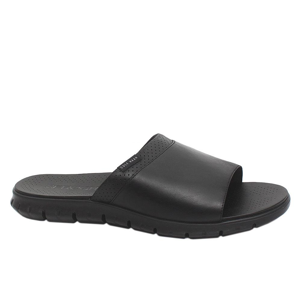 Cole Haan Zerogrand Black Premium Leather Men Slippers