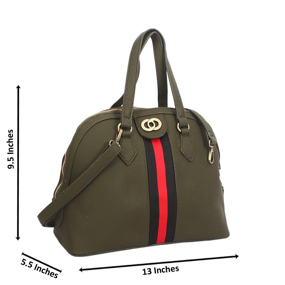 Camo Green Diane Leather Tote Handbag
