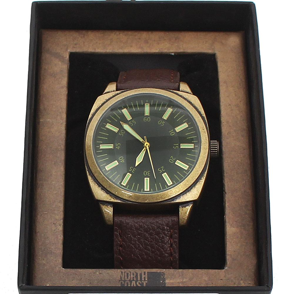 M & S Brown Leather Men Watch