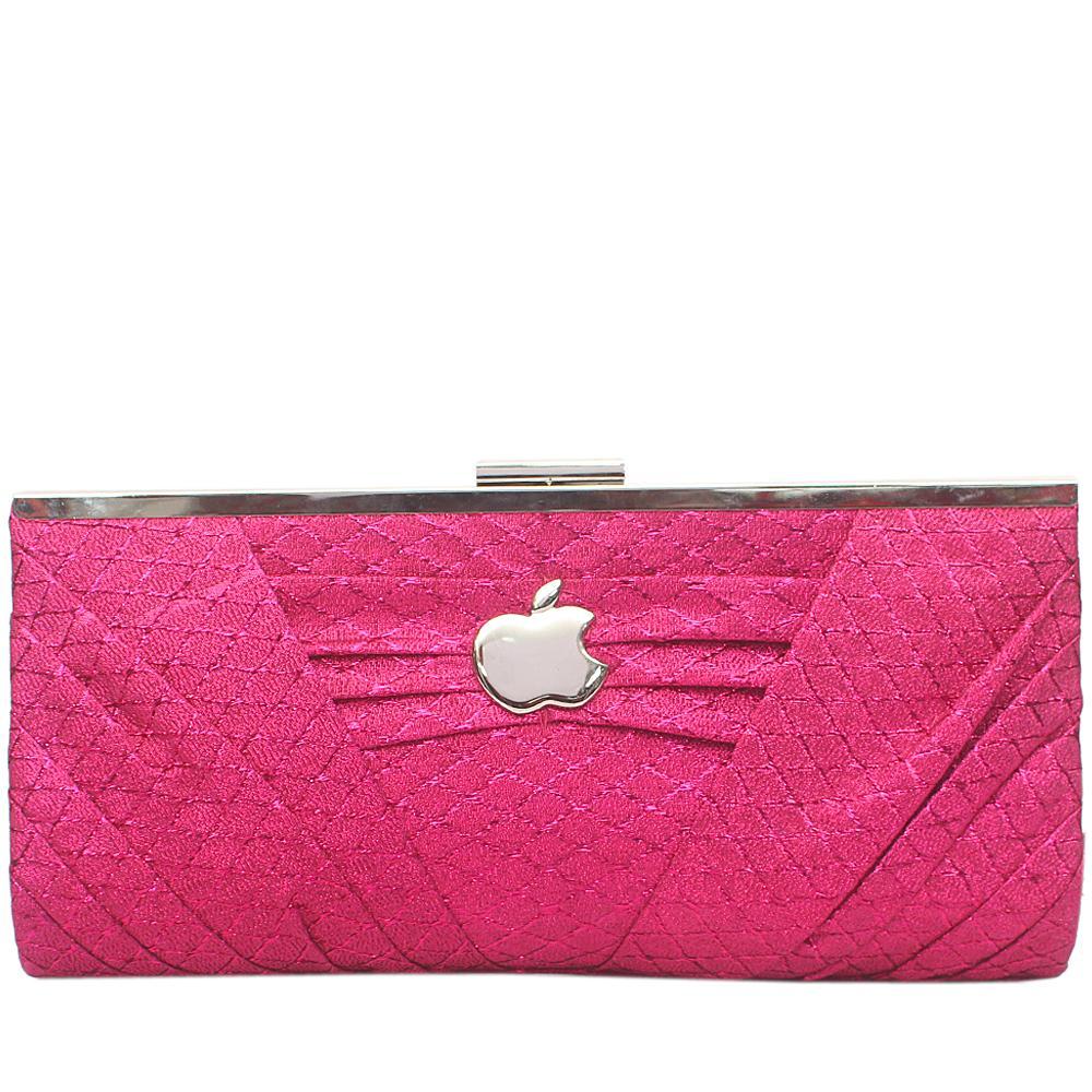Apple Pink Glitz Big Clutch Purse-