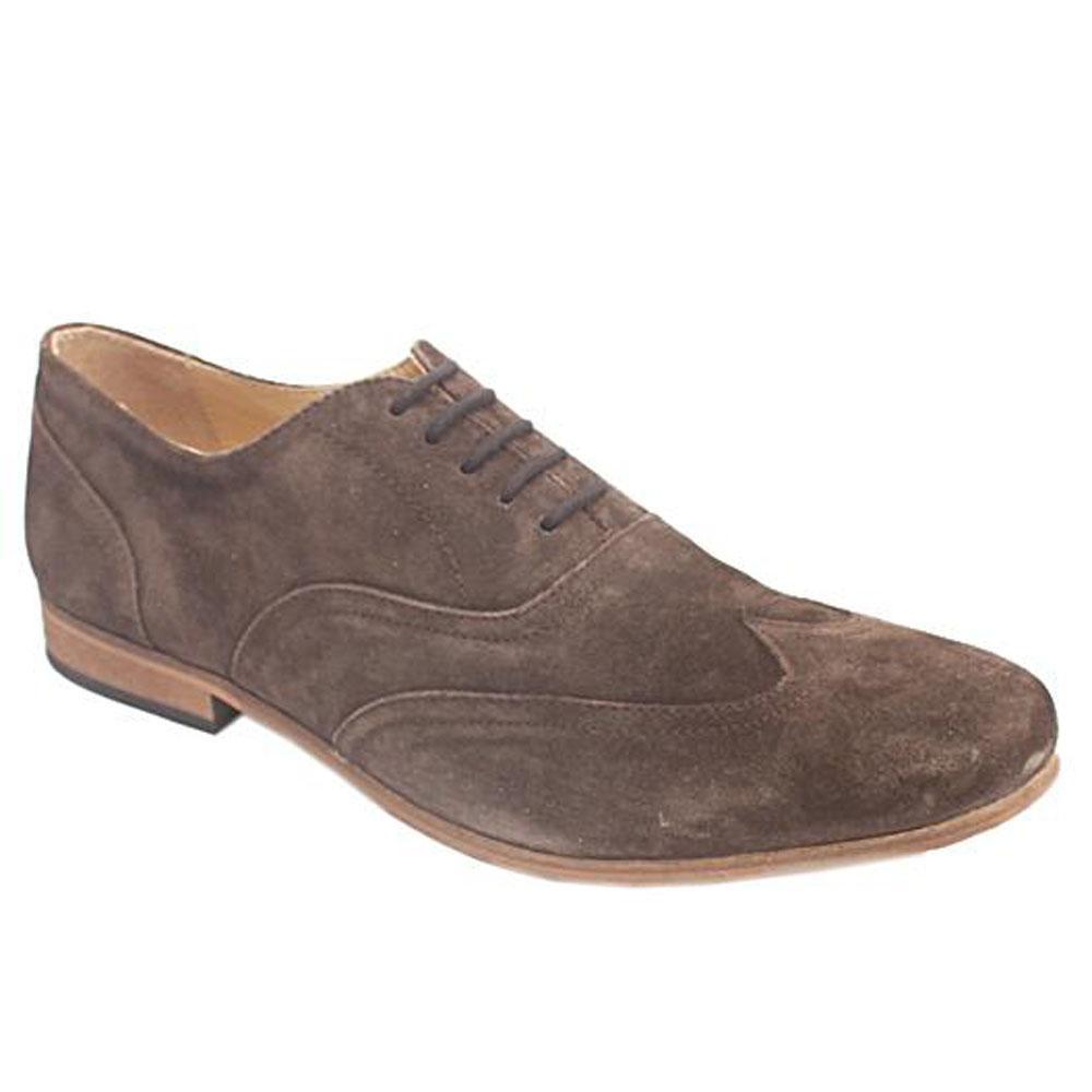 Kurt Geiger Dark Brown Suede Lace Mens Casual Shoe-Eur 44