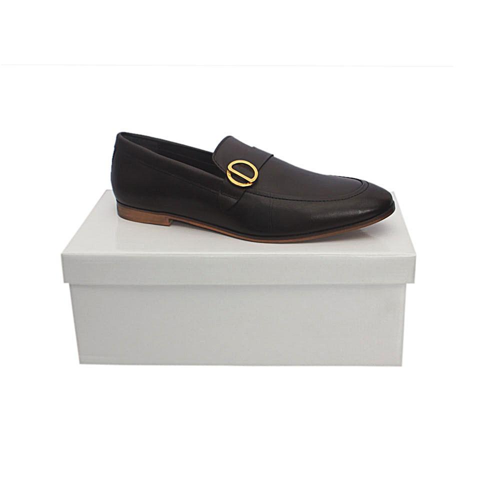 Kurt Geiger Rushden Coffee Premium Leather Shoe