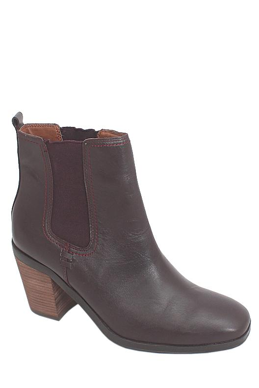 Indigo Collection Wine Leather Ladies Ankle Boot