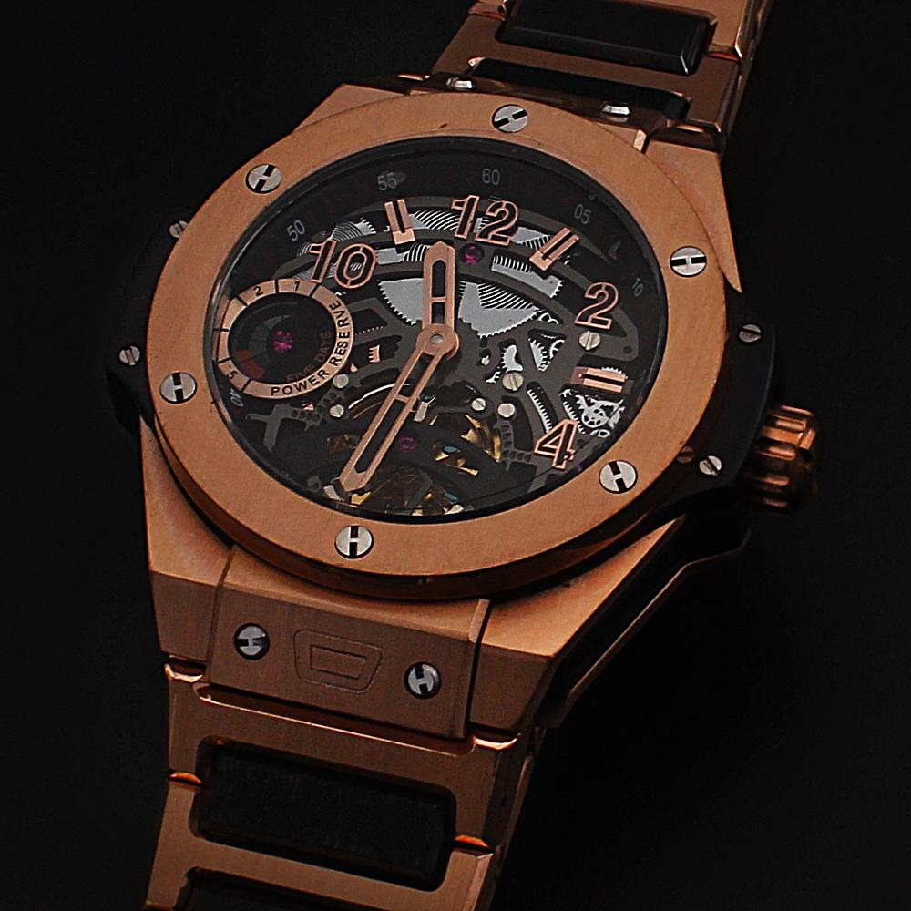 Big Bang Rose Gold Black Men Automatic Watch -