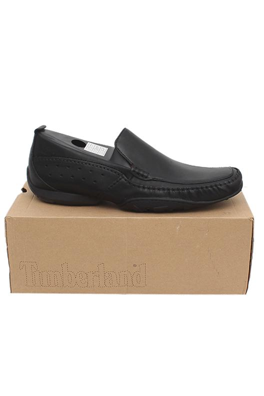 Timberland Black Leather Men Shoe