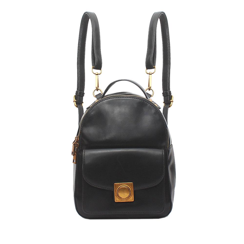 London-Style-Black-Leather-Back-Pack-Bag