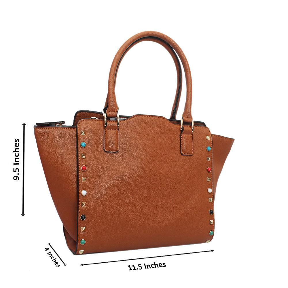 Brown Leather Medium Tote Handbag