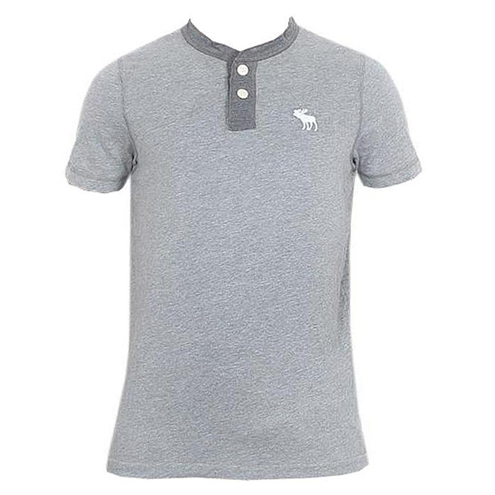 Abercrombie Grey Men's Polo-M