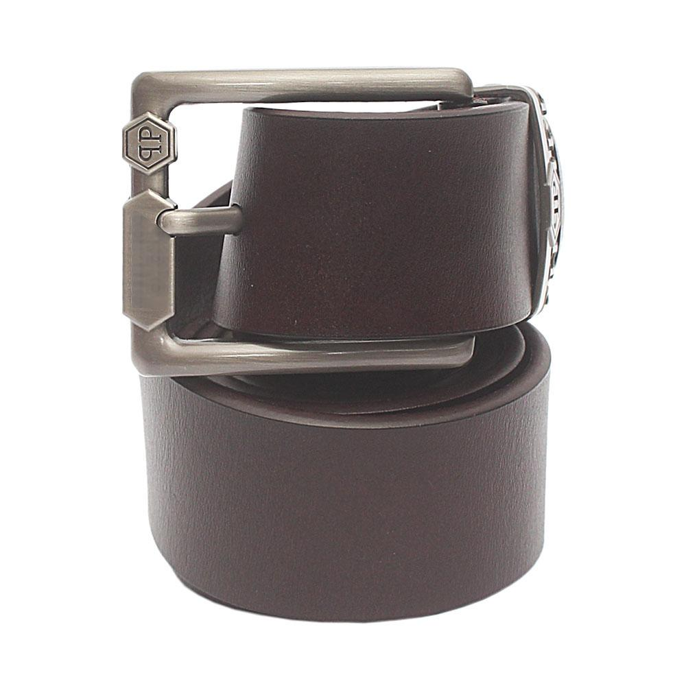 Coffee Brown Premium Leather Belt L 50 Inches