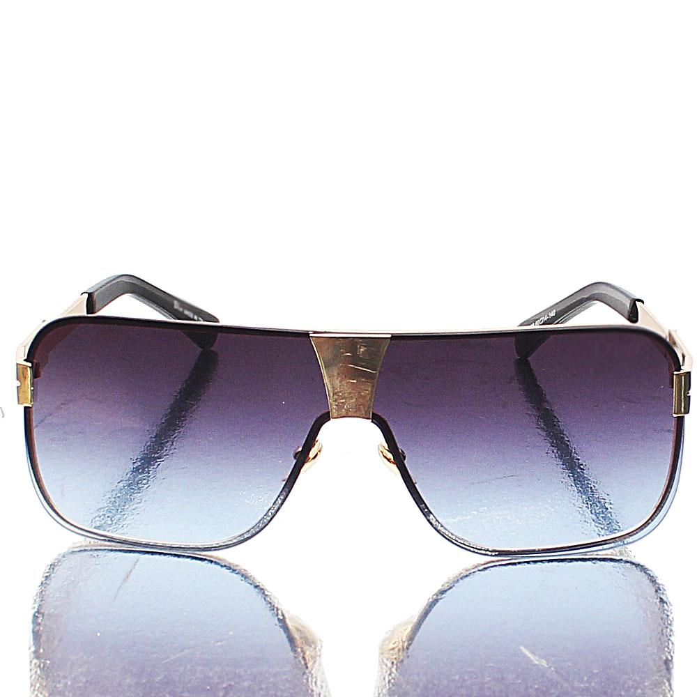 Gold-Shield-Blue-Mix-Lens-Sunglasses