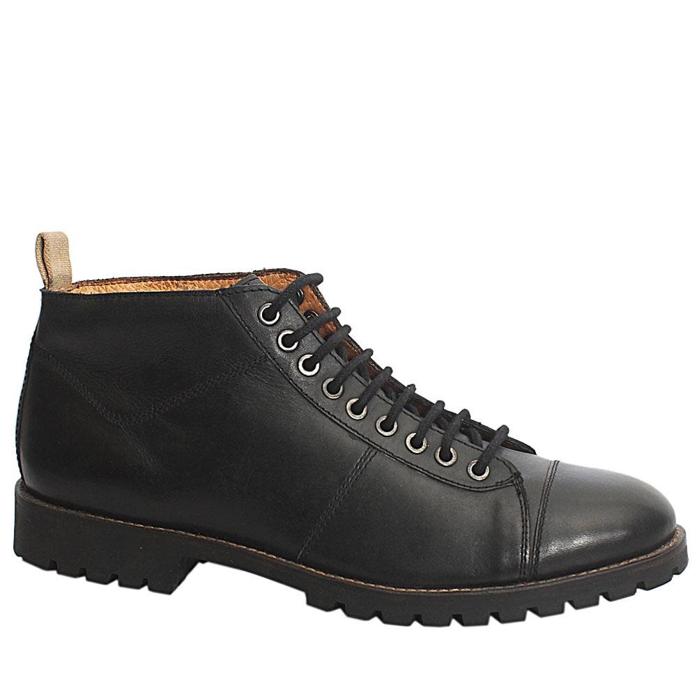 Kurt Geiger Black Leather Mens Boot-Eur 43