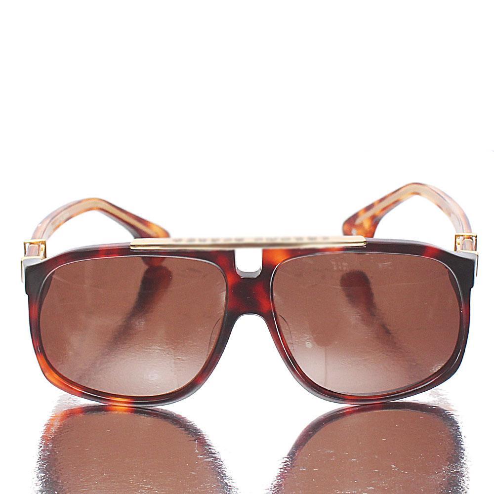 Gold Brown Aviator Teardrop Sunglasses