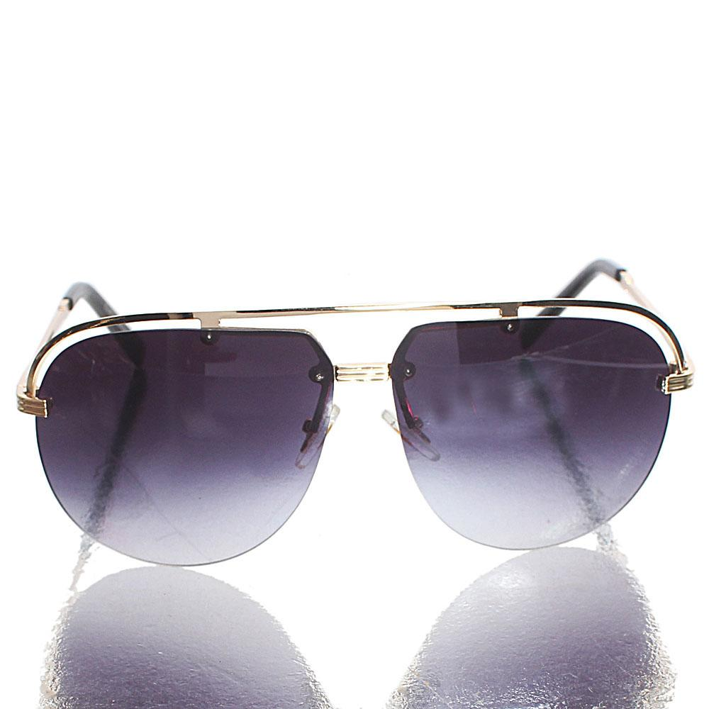 Gold Black Aviator Sunglasses