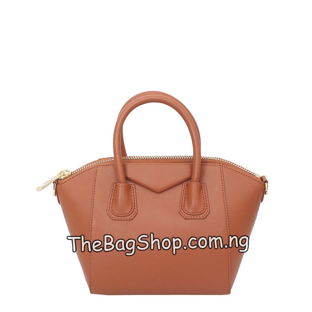 Finesse Brown Leather Small Tote Bag