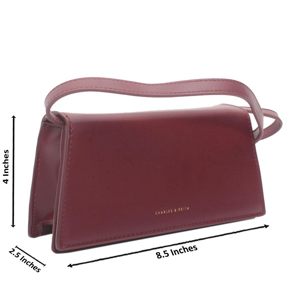 Maroon Leather Crossbody Bag