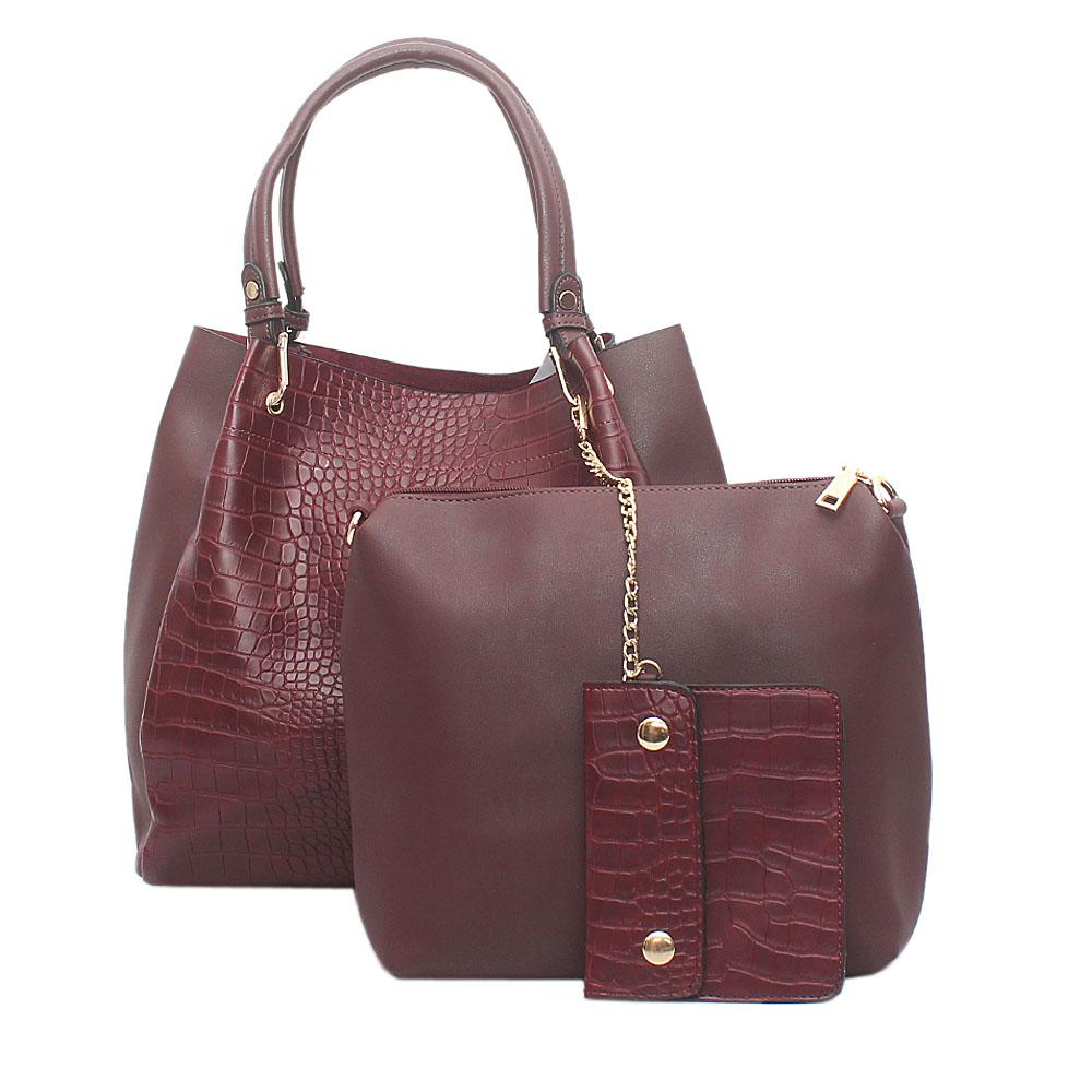 Wine Croc Leather 3 in 1 Bag
