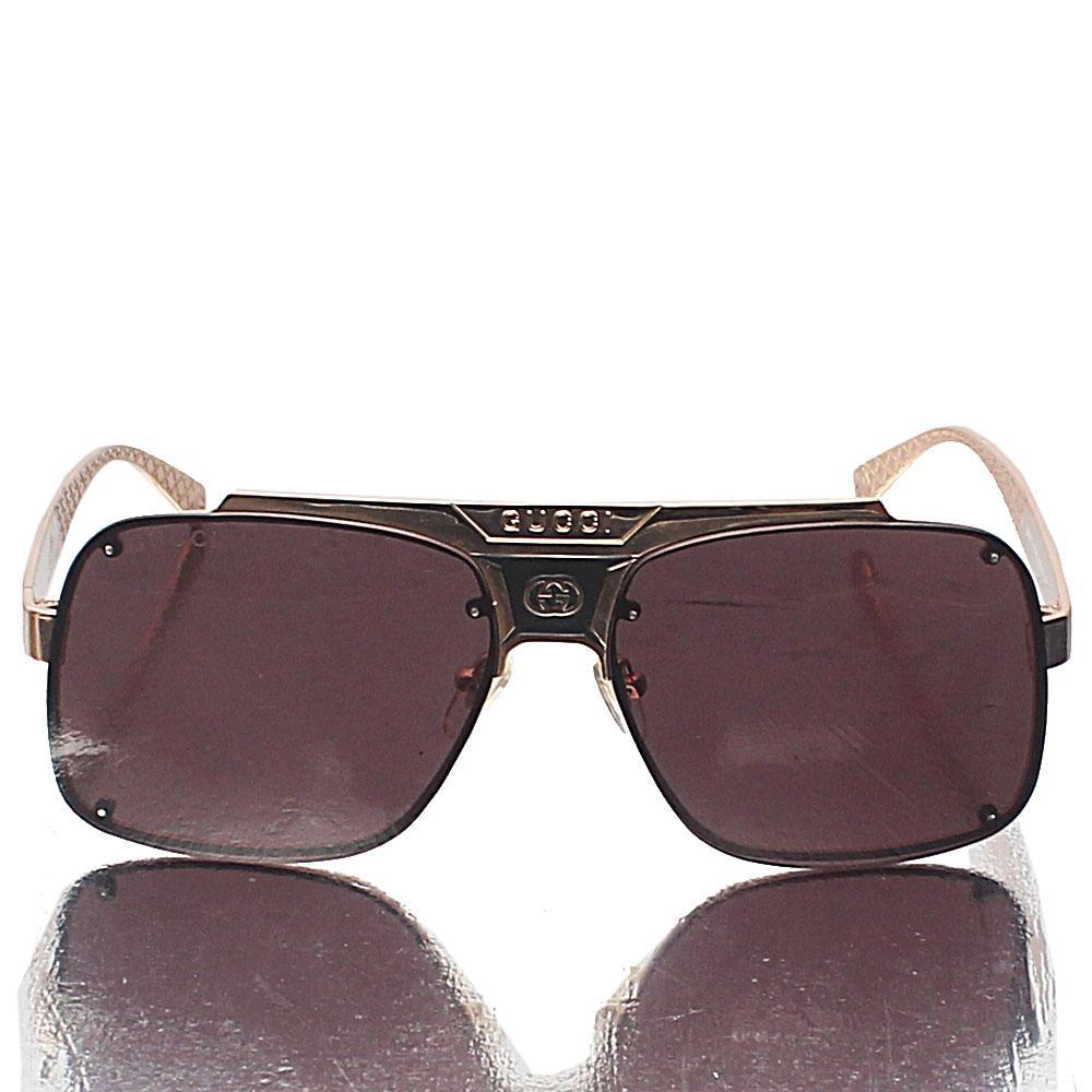 Gold Pilot Coffee Lens Sunglasses