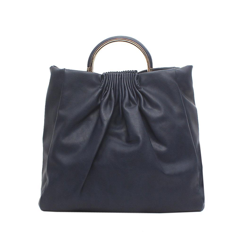 London Style Navy - Blue Leather Handbag