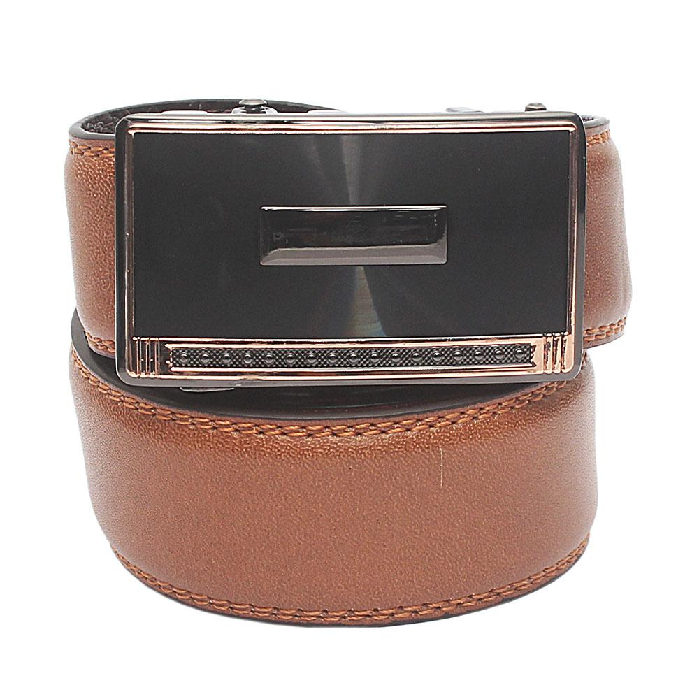Brown Exotic Leather Belt L 46 Inches