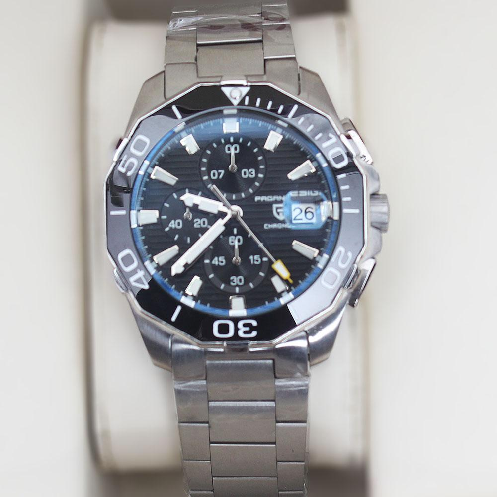 P-Design Stainless Steel Oyster Chronograph Watch