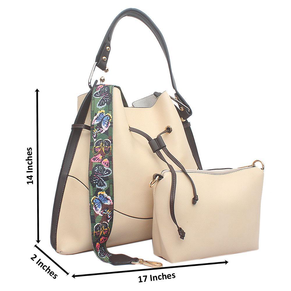 Cream Leather Lillie Bag