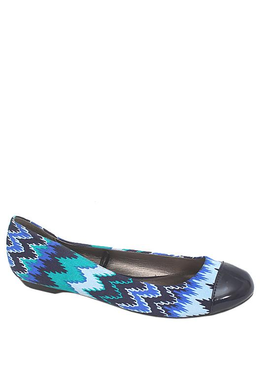 M & S Woman Multicolor Fabric Ladies Flat Shoe