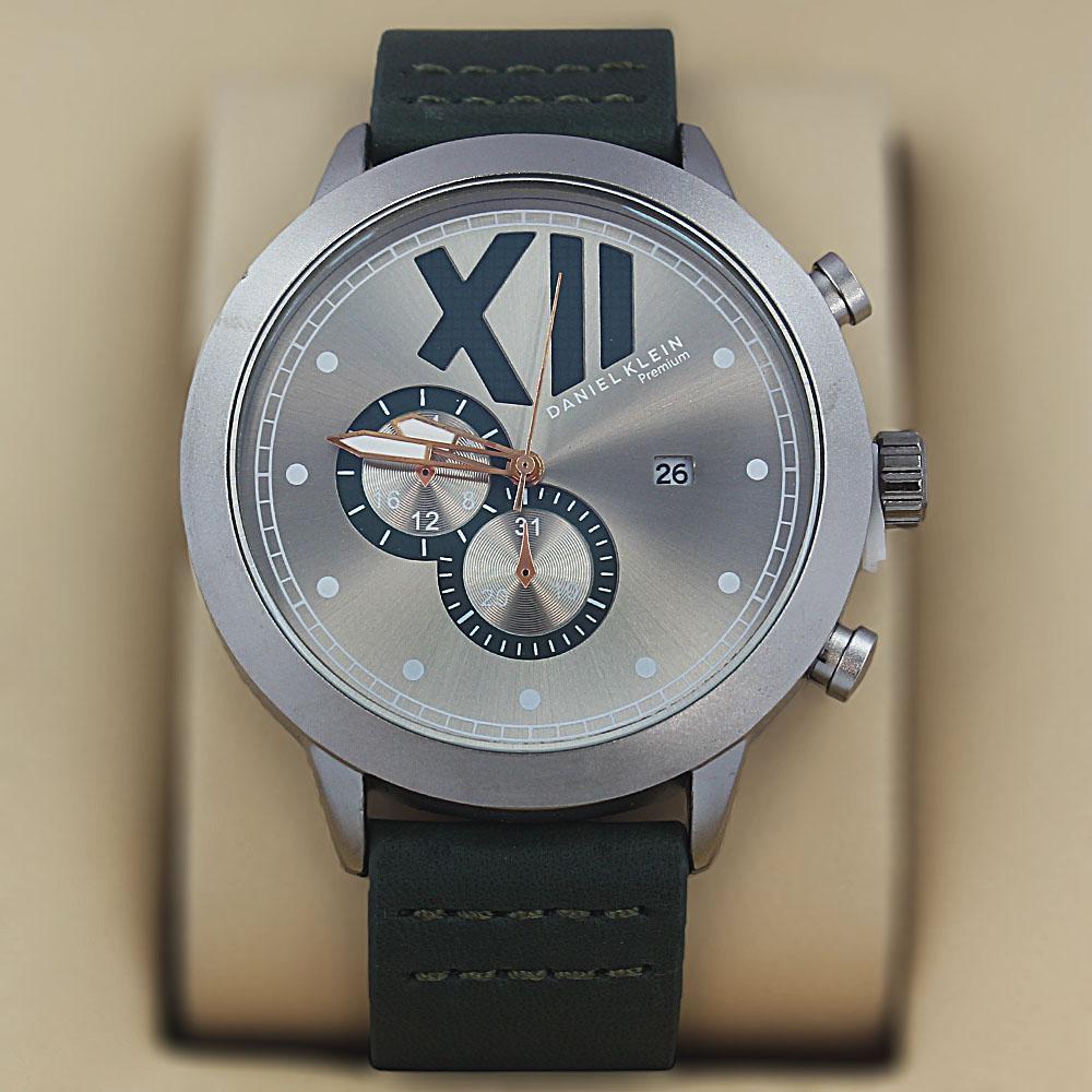 Daniel Klein Fernando Green Leather Fashion Series Watch