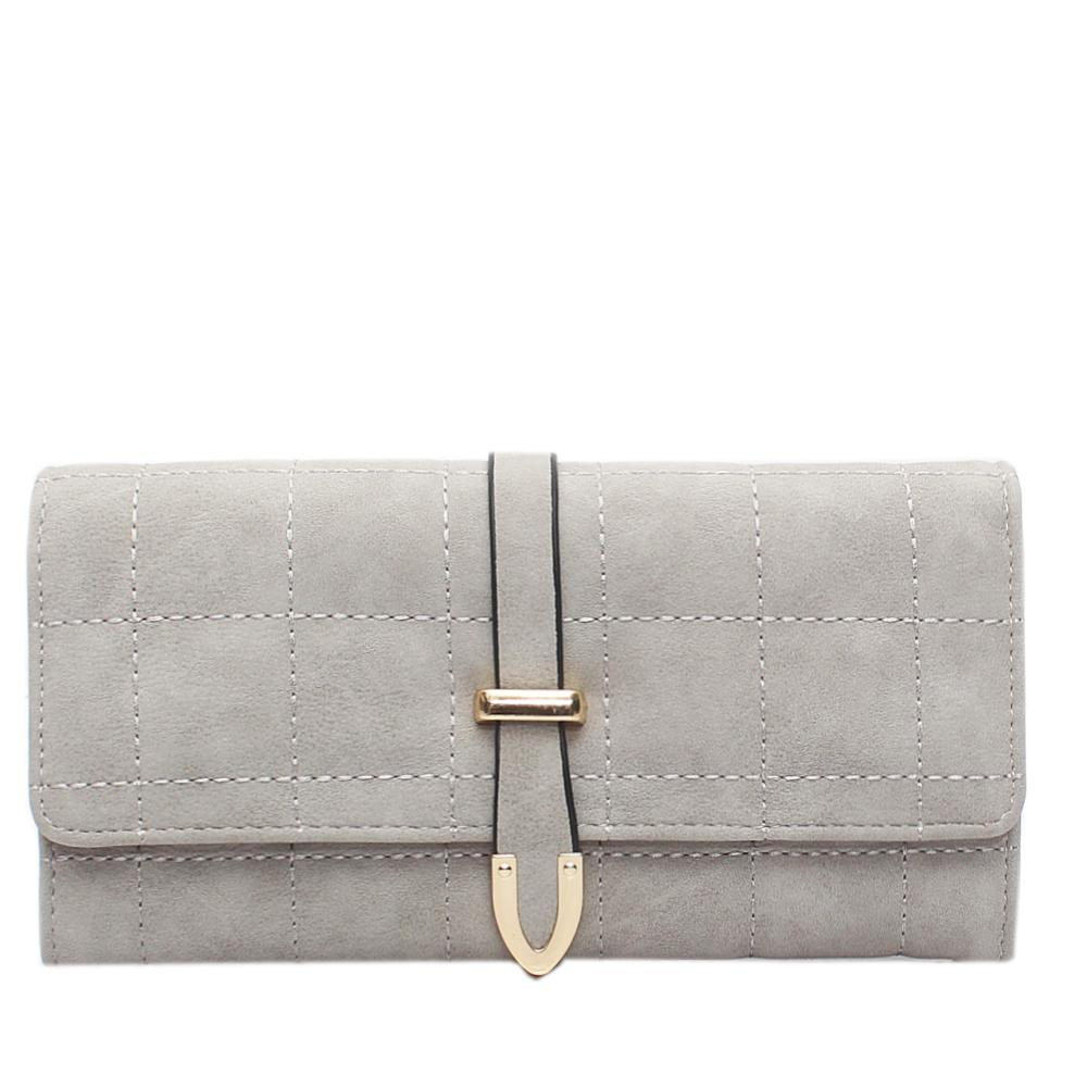 Nubuck Grey Leather Ladies Wallet