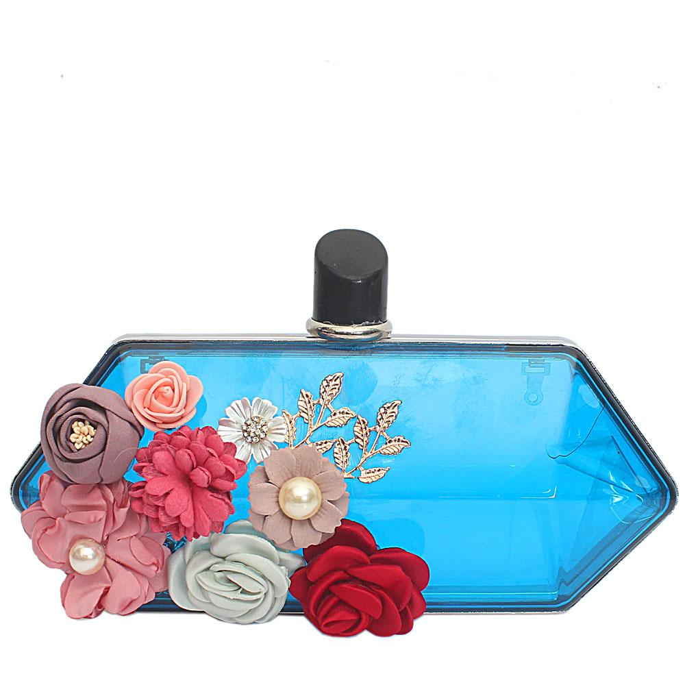 Blue Transparent Plastic Hard Clutch