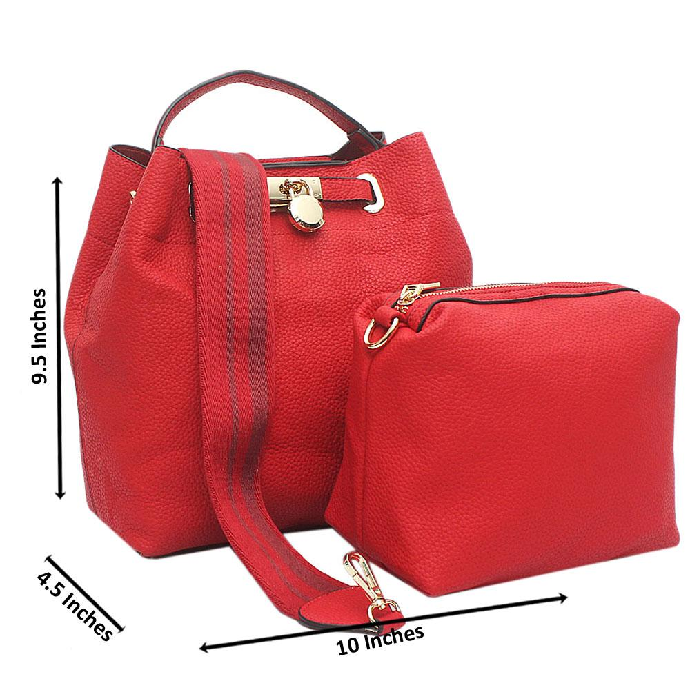 Red Josephine Medium Leather Handbag