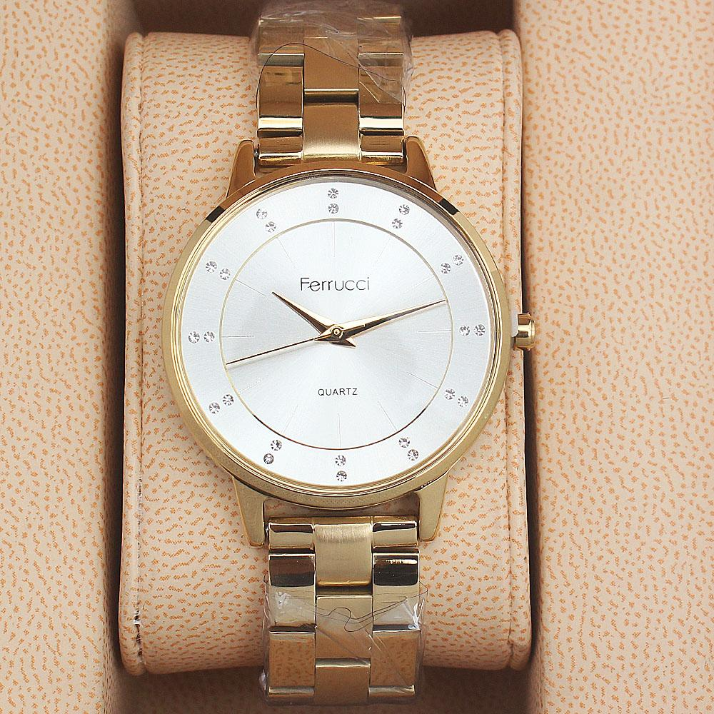 Ferrucci Sara Gold Mix Ladies Watch