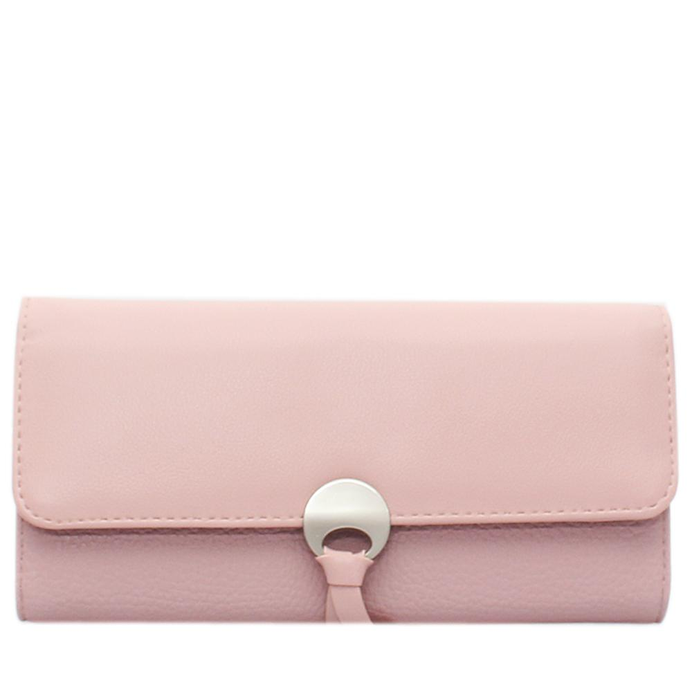 Pink Leather Ladies Wallet