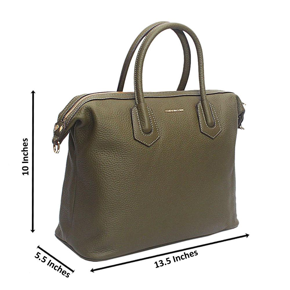 Forstmann Rochelle Green Cow-Leather Tote Handbag