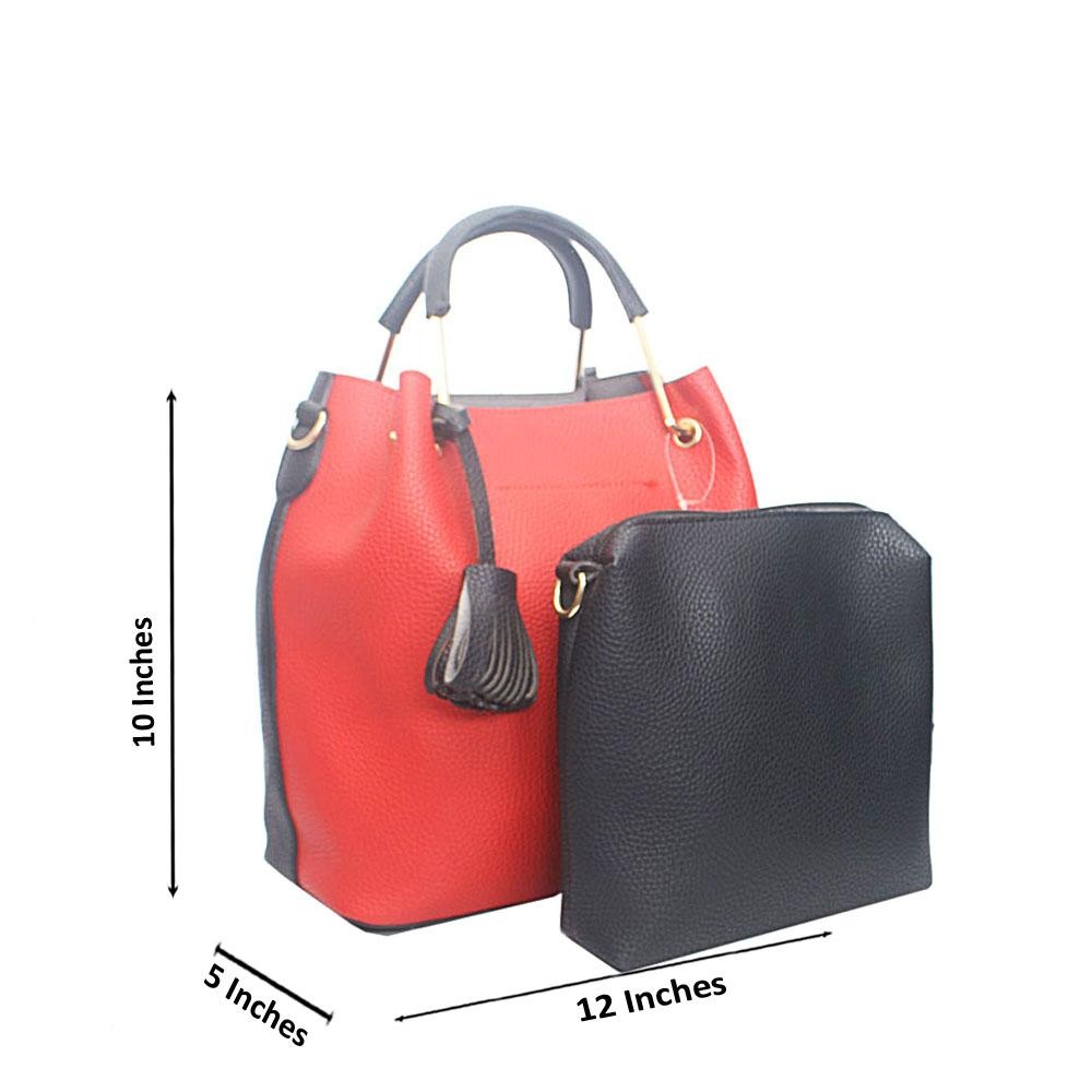 Black Red Alt Colour Tandy Leather Handbag
