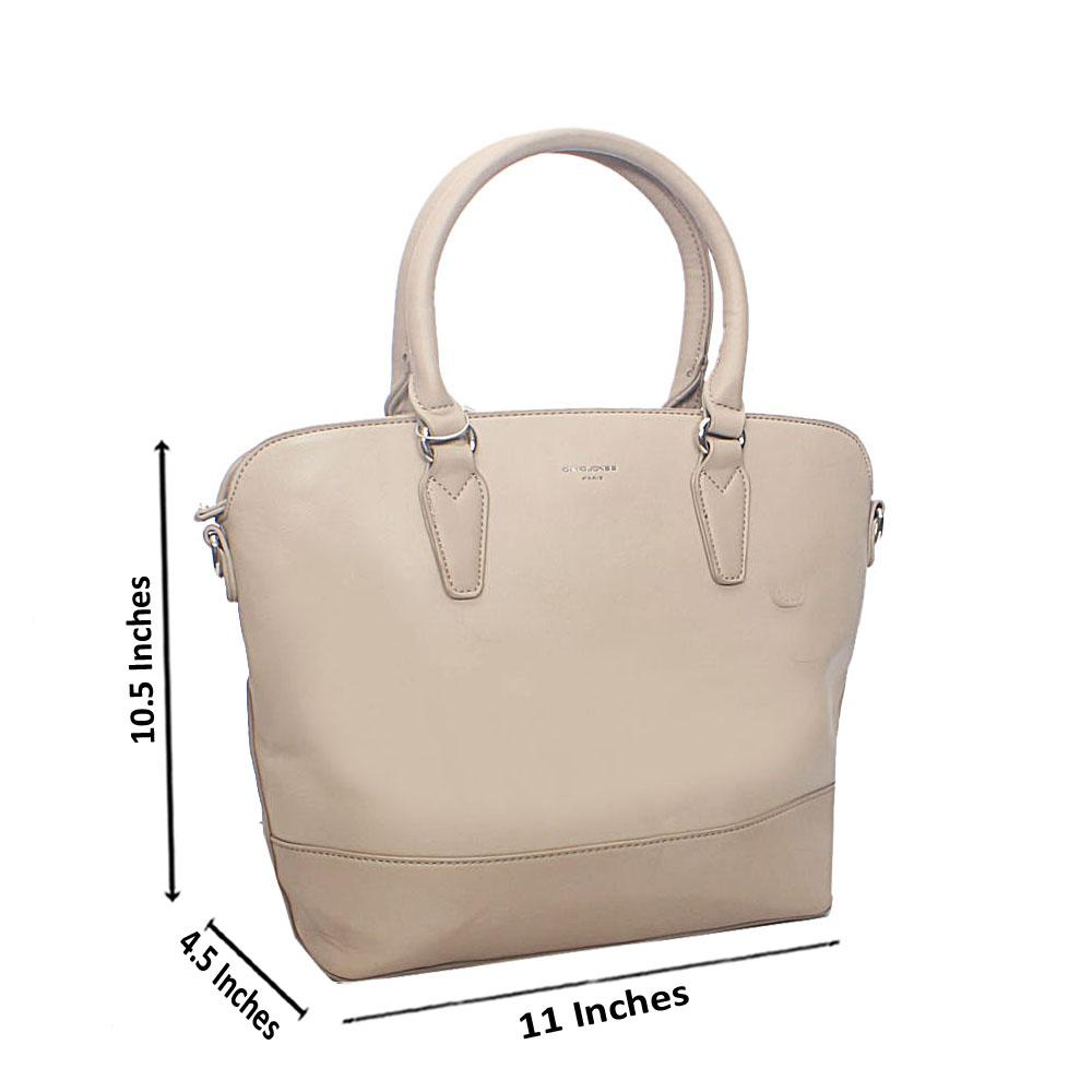 Beige Dahlia Tandy Leather Tote Handbag