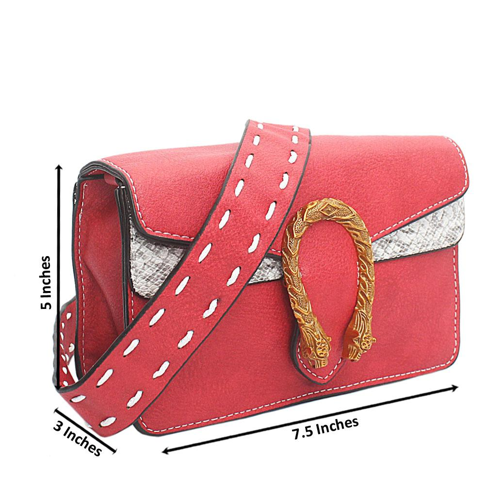 Red Leather Super M Crossbody Bag