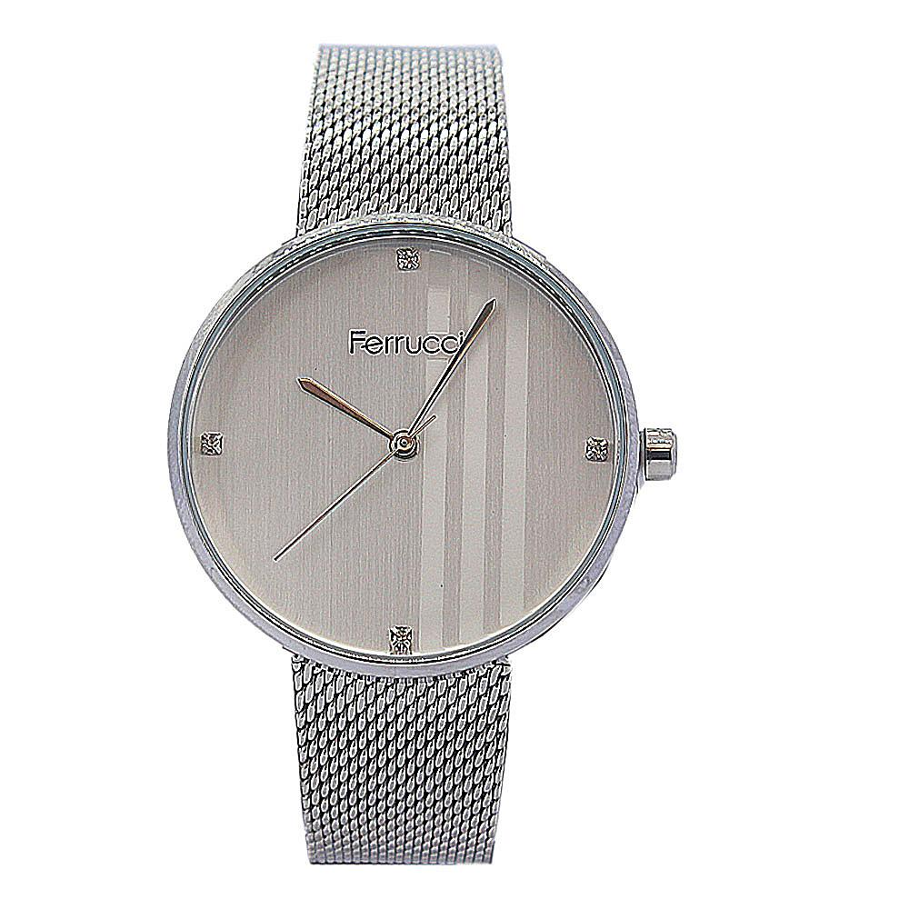 Ferrucci iconic Silver Stainless Mesh Ladies Watch