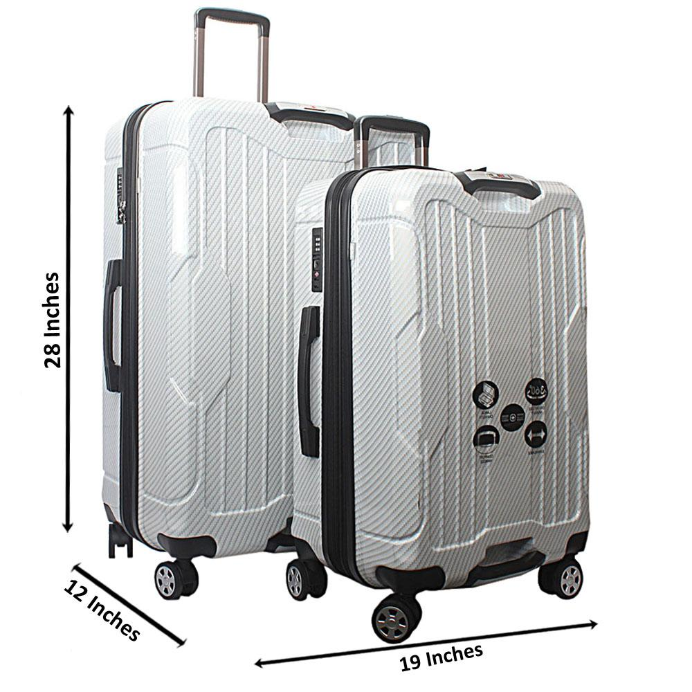 Saint Cream 28 inch wt 24 inch 2-in-1 Hardshell Spinners Premium Suitcase S