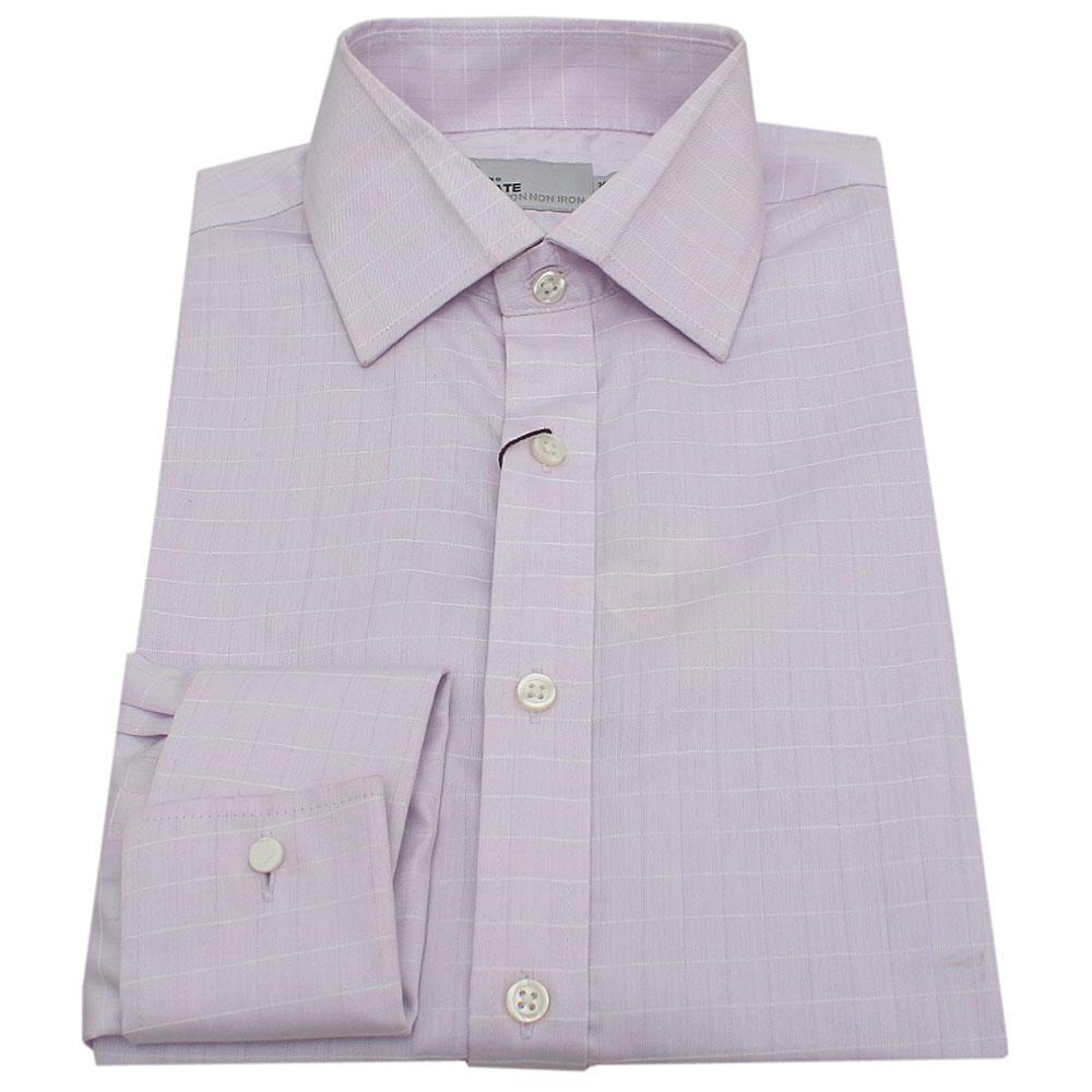 M&S Utimate Purple Cotton Stripe L/S Men's Shirt-Sz 15