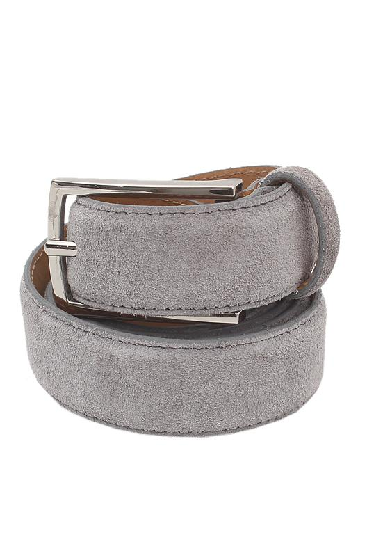 Collezione Gray Men Suede Leather Belt