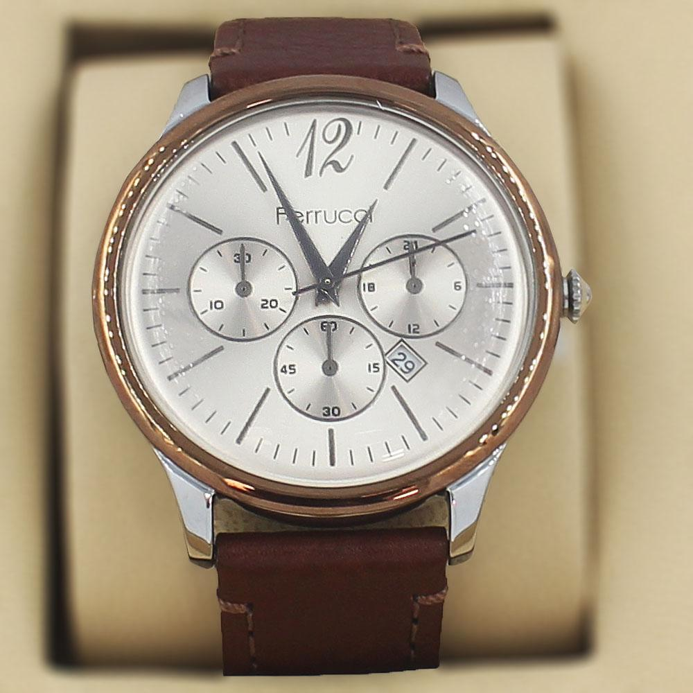 Ferrucci Tycho Brown Leather Divers Series Watch