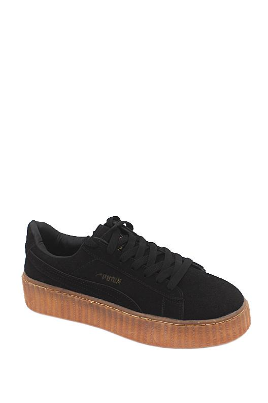 Puma Black Suede Ladies Sneakers